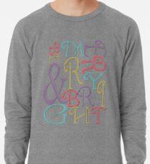 Modern Typography Merry and Bright  Lightweight Sweatshirt