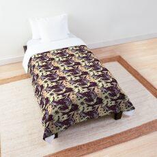 Kit Cat Graphic ~ Pastel Flowers Comforter