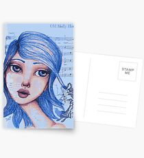 Blue Girl Postcards