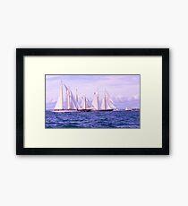 Maritime Lineup Framed Print