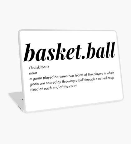 Basket.ball, basket ball definition tee, simple ball tee, sports tee Laptop Skin