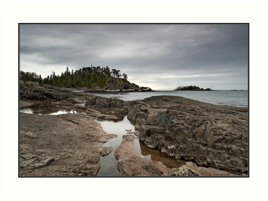 Rock outcrop Lake Superior, Ontario Canada by Eros Fiacconi (Sooboy)