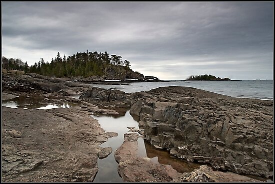 Rock outcrop Lake Superior, Ontario Canada by Eros Fiacconi (Sooboy)