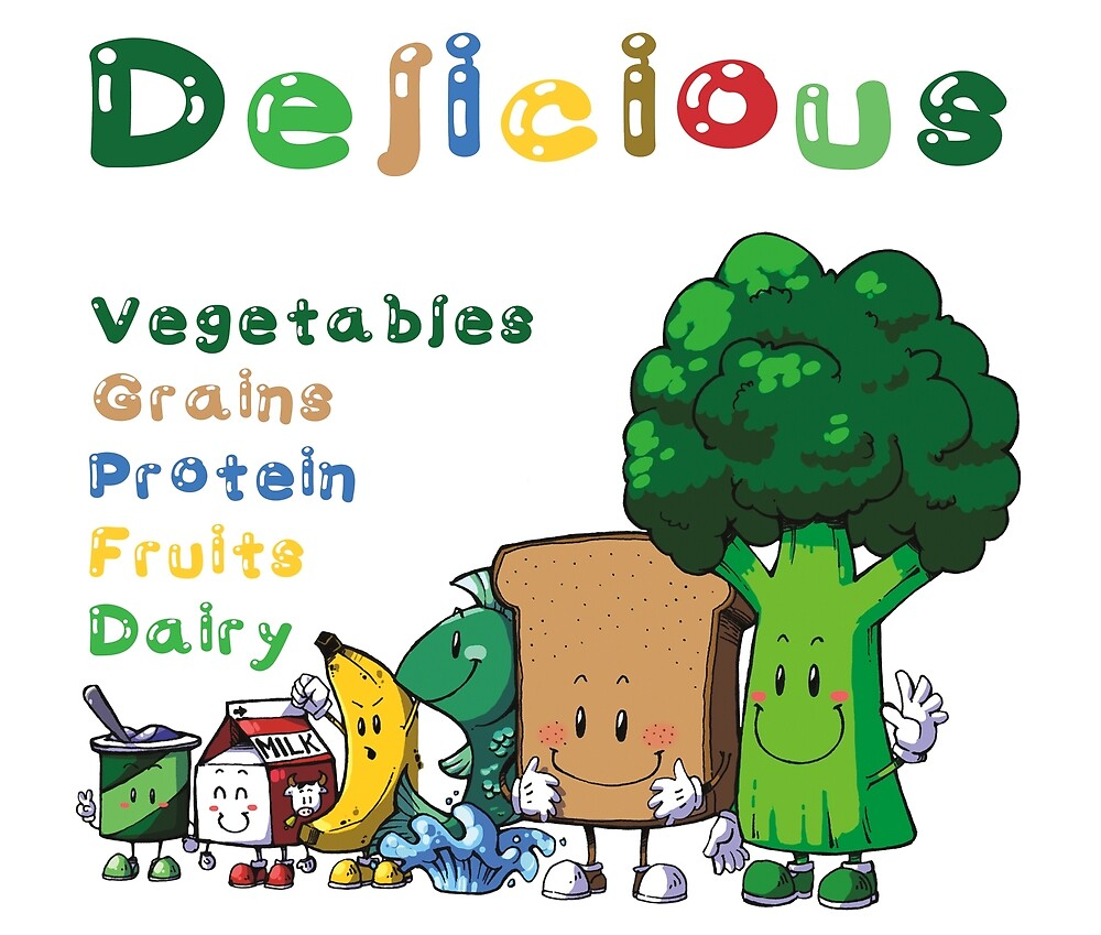 DELICIOUS Food Group T-Shirts PLUS more stuff by KarenBarron