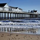 Reflections of the Pier. by Karen  Betts