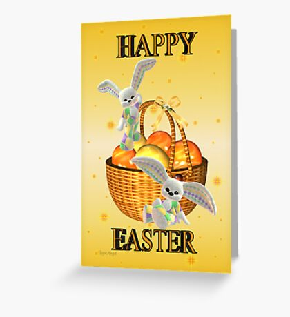 Happy Easter .. bunny style Greeting Card