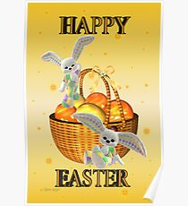Happy Easter .. bunny style Poster