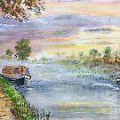 Oxford canal dawn. by Joe Trodden
