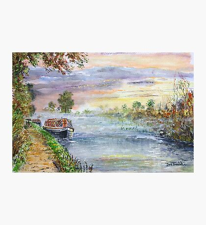 Oxford canal dawn. Photographic Print