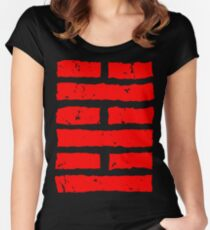 Arashikage Distressed Red Women's Fitted Scoop T-Shirt