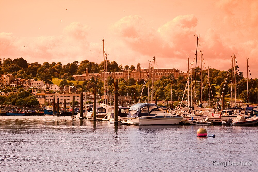 Boats on the River Dart by Kerry Dunstone
