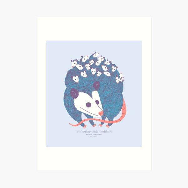 Awesome Opossum Art Print