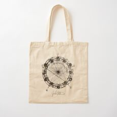 John Coltrane Chord Changes Mandala Cotton Tote Bag