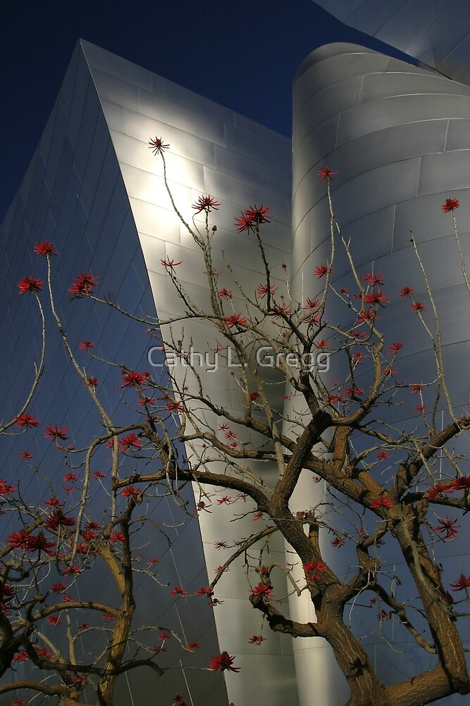 Concert Hall with Coral Tree by Cathy L. Gregg
