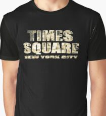 Times Square New York City (golden glow on black) Graphic T-Shirt