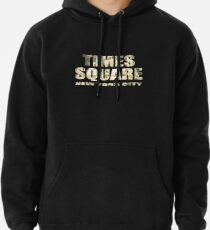 Times Square New York City (golden glow on black) Pullover Hoodie