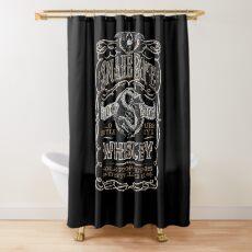 Snake Bite Whiskey Label Gift Shower Curtain