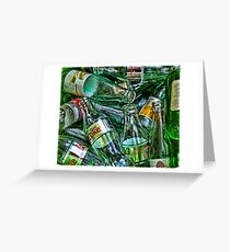 Ten Green Bottles Greeting Card