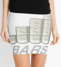 FULL XANAX BARS WHITE Mini Skirt