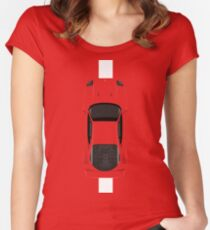 Top view of the legend Women's Fitted Scoop T-Shirt