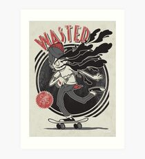 Wasted Youth Art Print