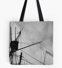 Rigging and Flag, H.M.S. Victory Tote Bag