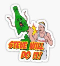 Steve Will Do It Logo Sticker