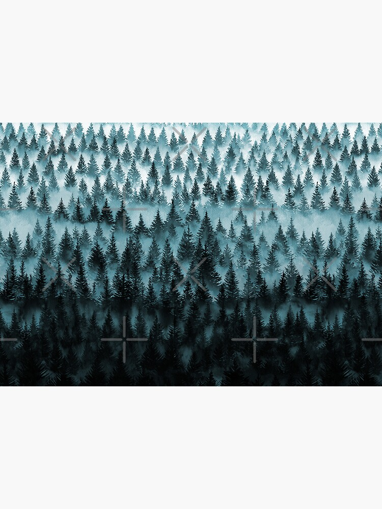 FOREST - a large format watercolor - forest and mountains by Nozzas