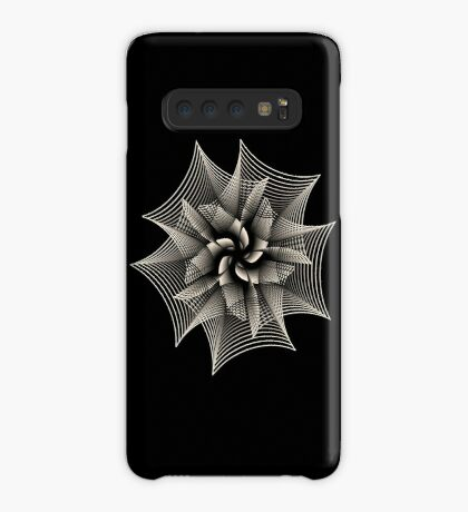 Abstract Monochrome Flower Case/Skin for Samsung Galaxy
