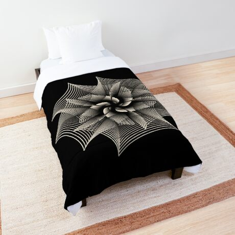 Abstract Monochrome Flower Comforter
