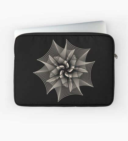 Abstract Monochrome Flower Laptop Sleeve