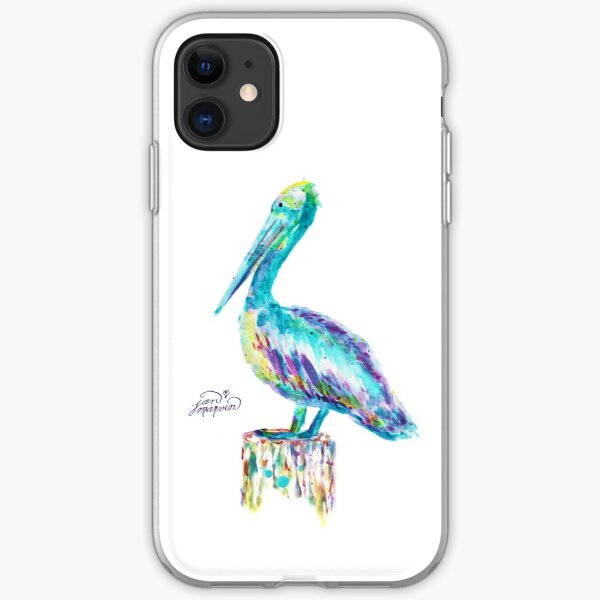 Pelican watercolor iPhone Soft Case