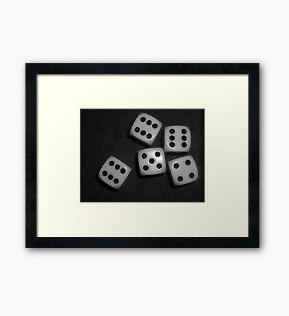 03-20-11:  Yahtzee Framed Print