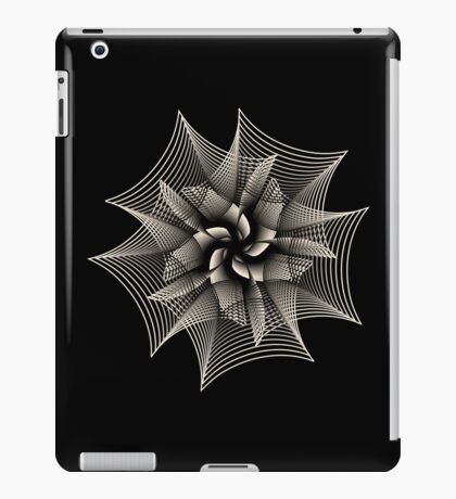 Abstract Monochrome Flower iPad Case/Skin