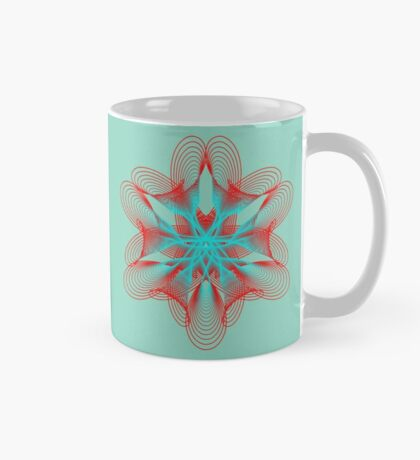 Spirograph with red and blue Mug