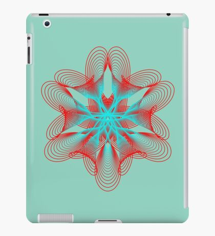Spirograph with red and blue iPad Case/Skin