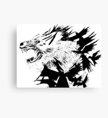 the wolf and the crow Canvas Print
