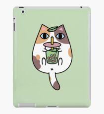 Calico Cat with Boba Tea  iPad Case/Skin
