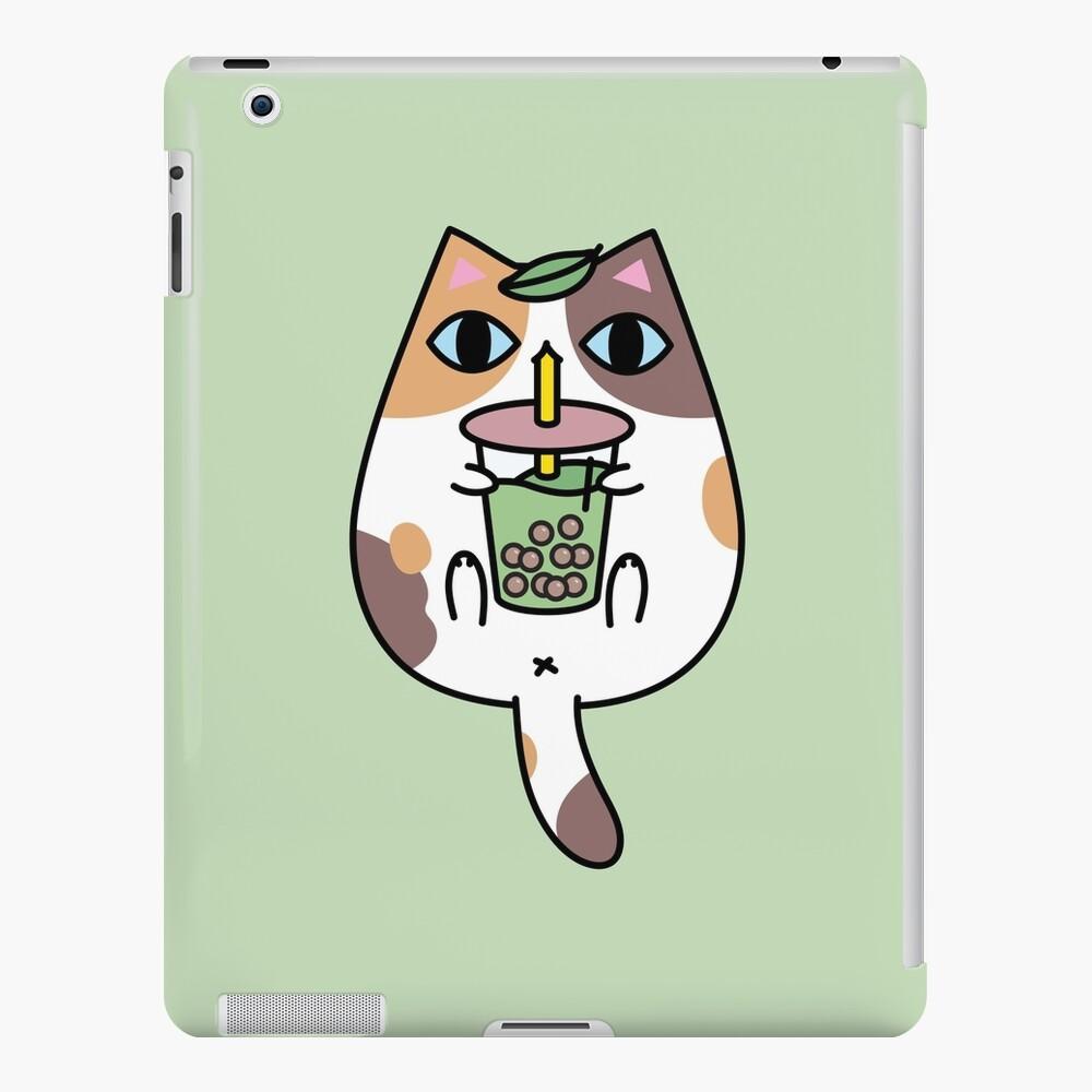 Calico Cat with Boba Tea  iPad Case & Skin