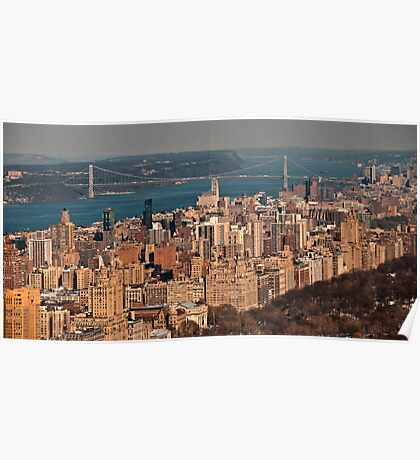 looking out from atop rockefeller center Poster