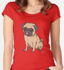 PUG (pink) Women's Fitted Scoop T-Shirt