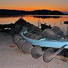 Fishing Boat at Sunset by Escott O. Norton