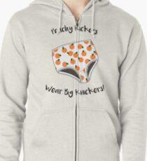 Peachy Kickers Wear Big Knickers! Zipped Hoodie