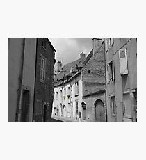 Village Streetscape, France Photographic Print