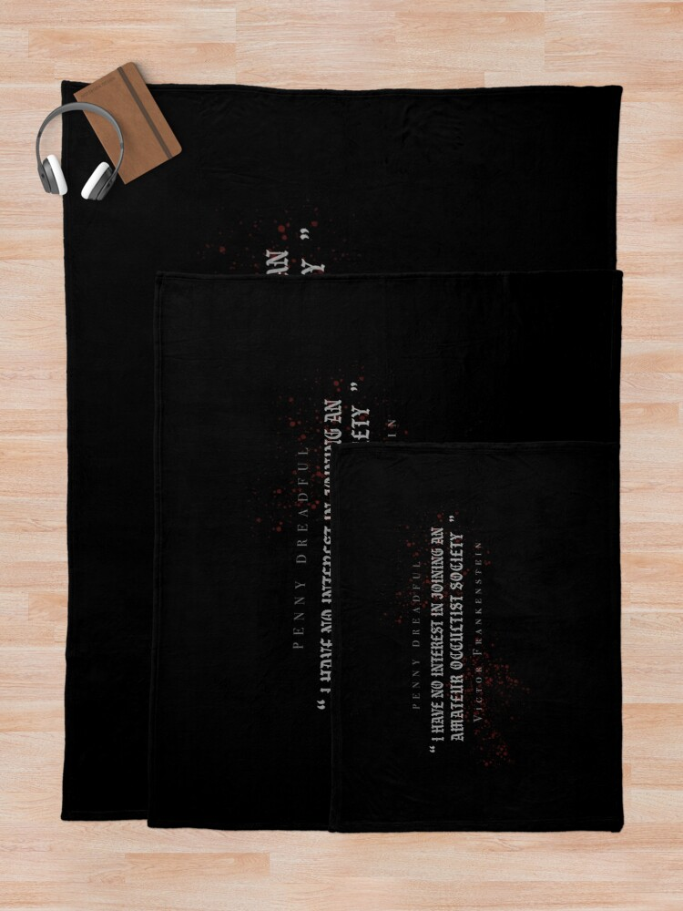 Alternate view of Victor Frankenstein - Penny Dreadful Quote Throw Blanket