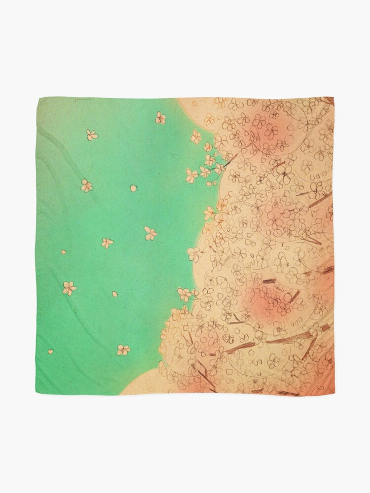 Alternate view of Cherry blossoms - Nice weather today Scarf