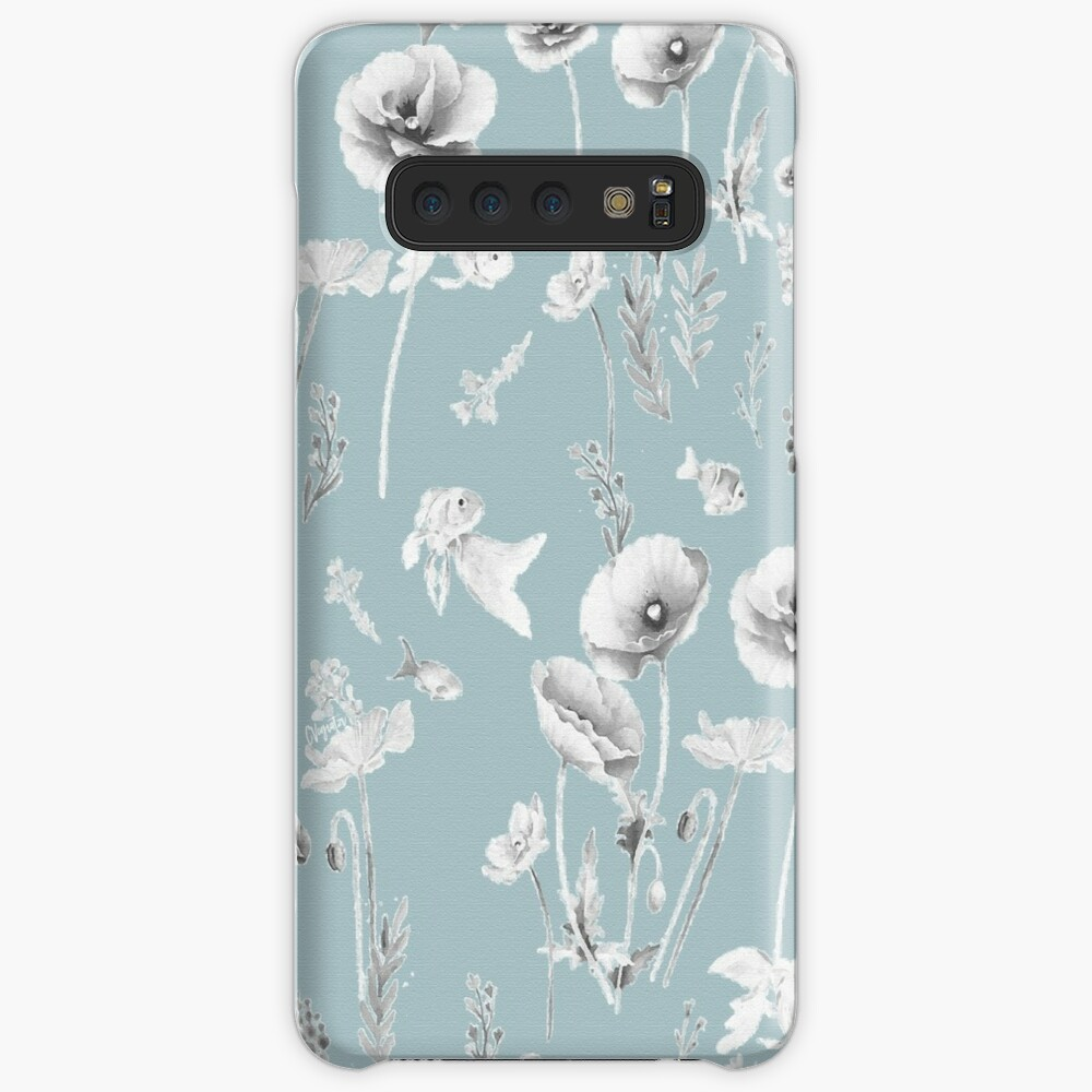 Fishes & Garden-Powder Blue Samsung Galaxy Snap Case