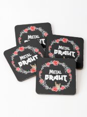 Metal Bride for the Hen Party Heavy Metal Girl - Faith and Truth Coasters