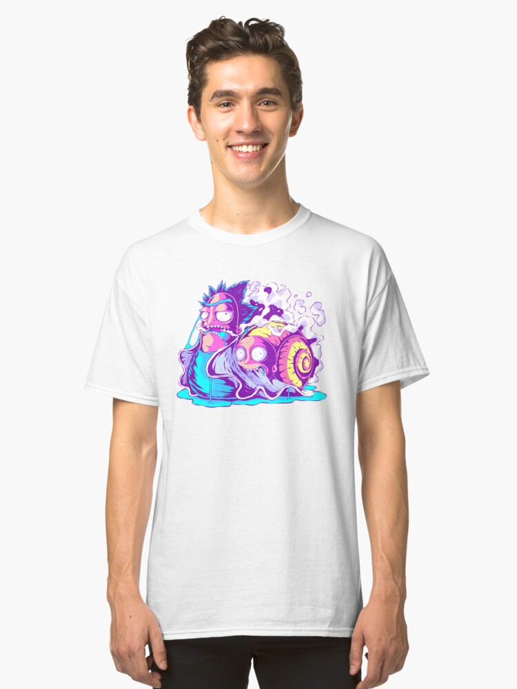 Alternate view of Rick and Morty Multiverse Snail Classic T-Shirt