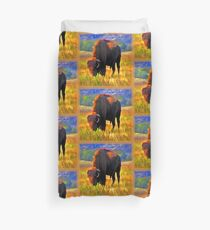 Plains Bison Duvet Cover